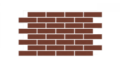 Искусственный камень Термопанель фасадная с клинкерной плиткой Burgund 9553. Размер 890*610 мм: