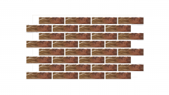 Термопанель фасадная с клинкерной плиткой Colorado 9614 Rustic/структурная. Размер 890*610 мм