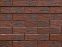 Термопанель фасадная с клинкерной плиткой Country Wisnia/Cherry 9782 Rustic/структурная. Размер 890*610 мм