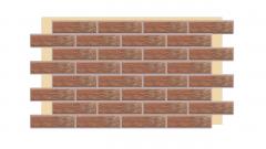 Термопанель фасадная с клинкерной плиткой Loft Brick Chili 2105. Размер 890*610 мм