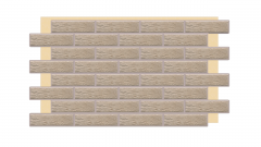 Искусственный камень Термопанель фасадная с клинкерной плиткой Loft Brick Salt 2075. Размер 890*610 мм: