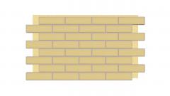 Термопанель фасадная с клинкерной плиткой Piaskowa/Sandy 9669. Размер 890*610 мм