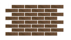 Искусственный камень Термопанель фасадная с клинкерной плиткой Semir Beige. Размер 890*610 мм: