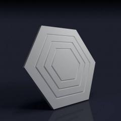 Искусственный камень 3D панель Шестигранник рельефный: